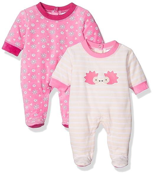 Twins Baby - Schlafstrampler Igel, Pijama para Bebés, (lot de 2) ,