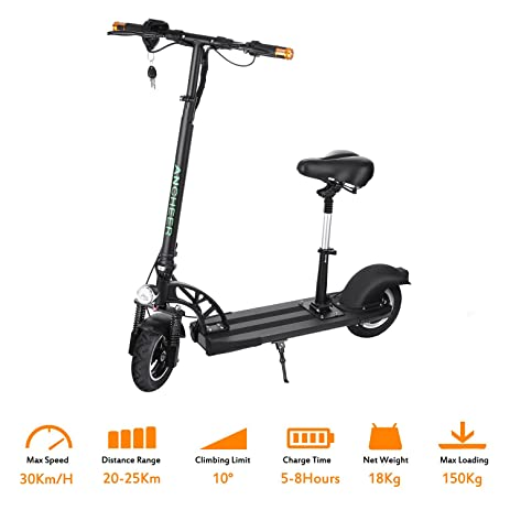 Amazon Com Ancheer E200 Electric Scooter Adult With Retractable