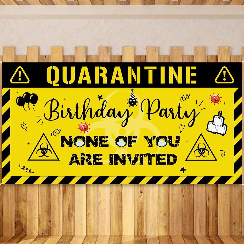 DIGITAL Birthday Party Backdrop Social Distancing Birthday Banner Quarantine Birthday Party Decoration Birthday Custom Photo Back drop
