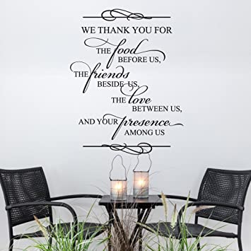 NSunForest We Thank You For The Food Religious Quote Bible Verse Spiritual Saying Family
