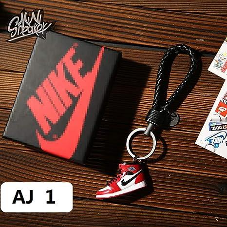 Mini zapatilla 3D de moda llavero figura AJ1-20 【1:6】 con ...