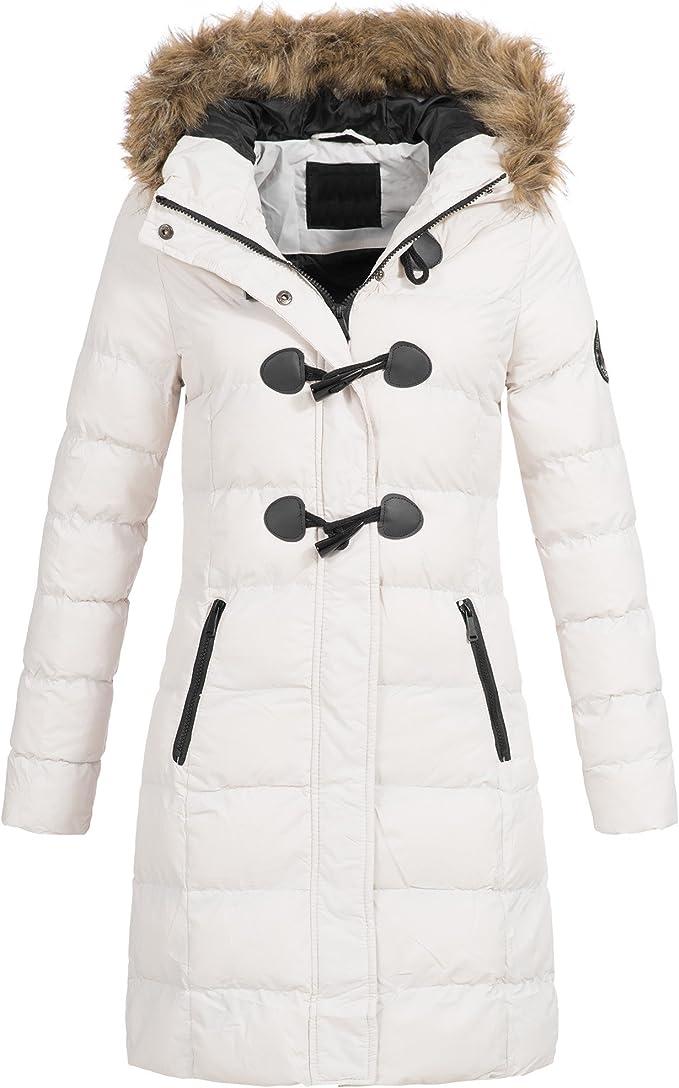 AZ Fashion Damen Steppmantel Winter Mantel Parka Jacke warm S XXL AZ29 4 Farben