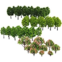Segolike Lot 70 Pieces 3-9cm Model Trees Architecture Buildings Street Park Garden Greenery 1:75-1:500 Scale