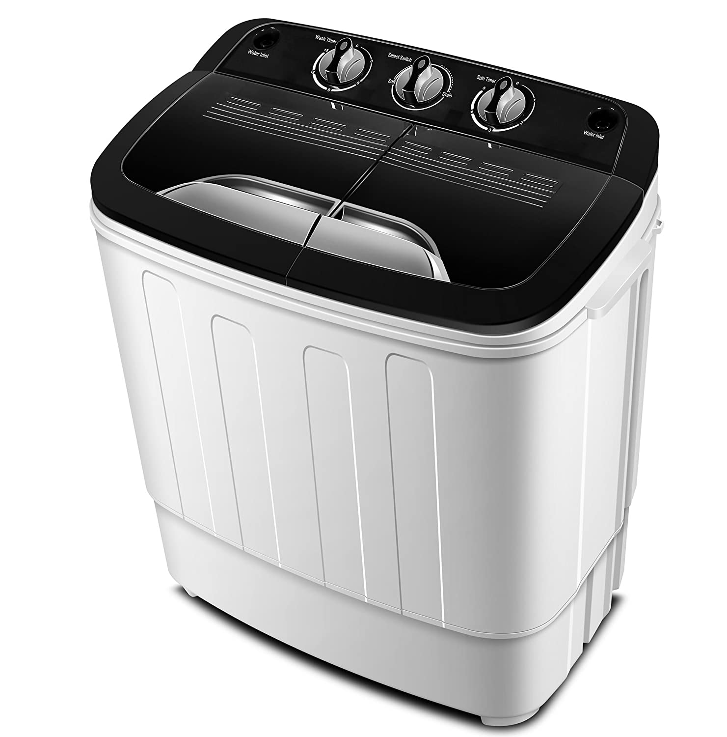 Portable Washing Machine TG23 - Twin Tub Washer Machine with Wash and Spin Cycle Compartments by ThinkGizmos (Trademark Protected) Think Gizmos