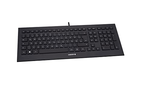 CHERRY Strait Black Corded Keyboard (DE) USB ultraflach Black