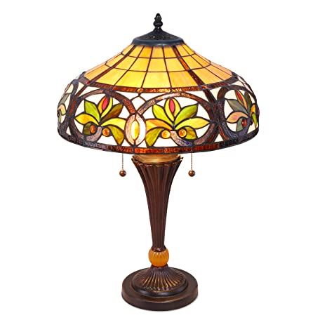 Serena Du0027italia Sunrise Tiffany Style Table Lamps, Mosaic Stained Glass Lamp,  Antique