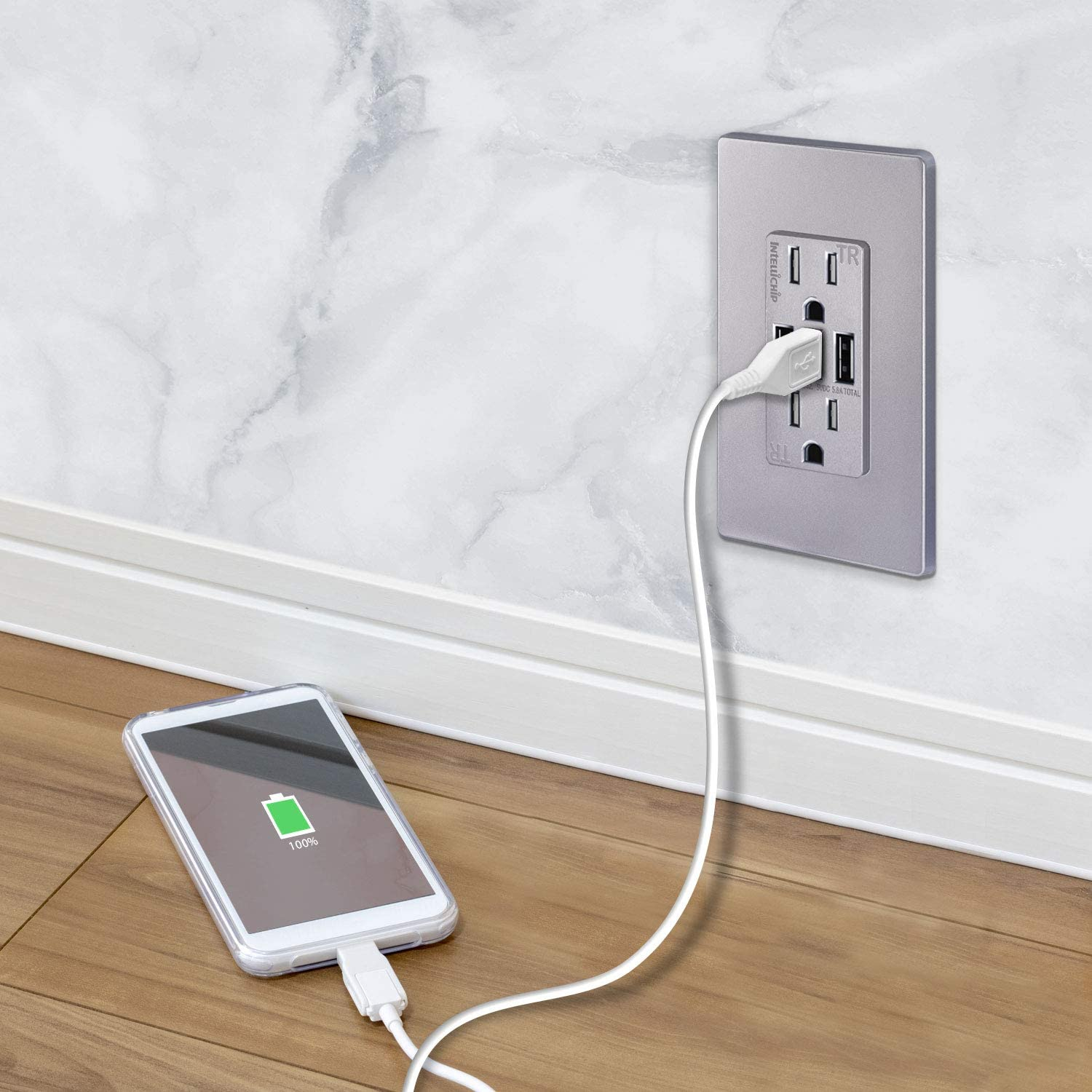 UL Listed HTC /& More Smartphones Samsung Galaxy S9//S8//S7 LG TOPGREENER 5.8A 3-Port USB Wall Outlet Compatible with iPhone 11//11 Pro//XS//MAX//XR 15A Tamper-Resistant Receptacle TU21558A3
