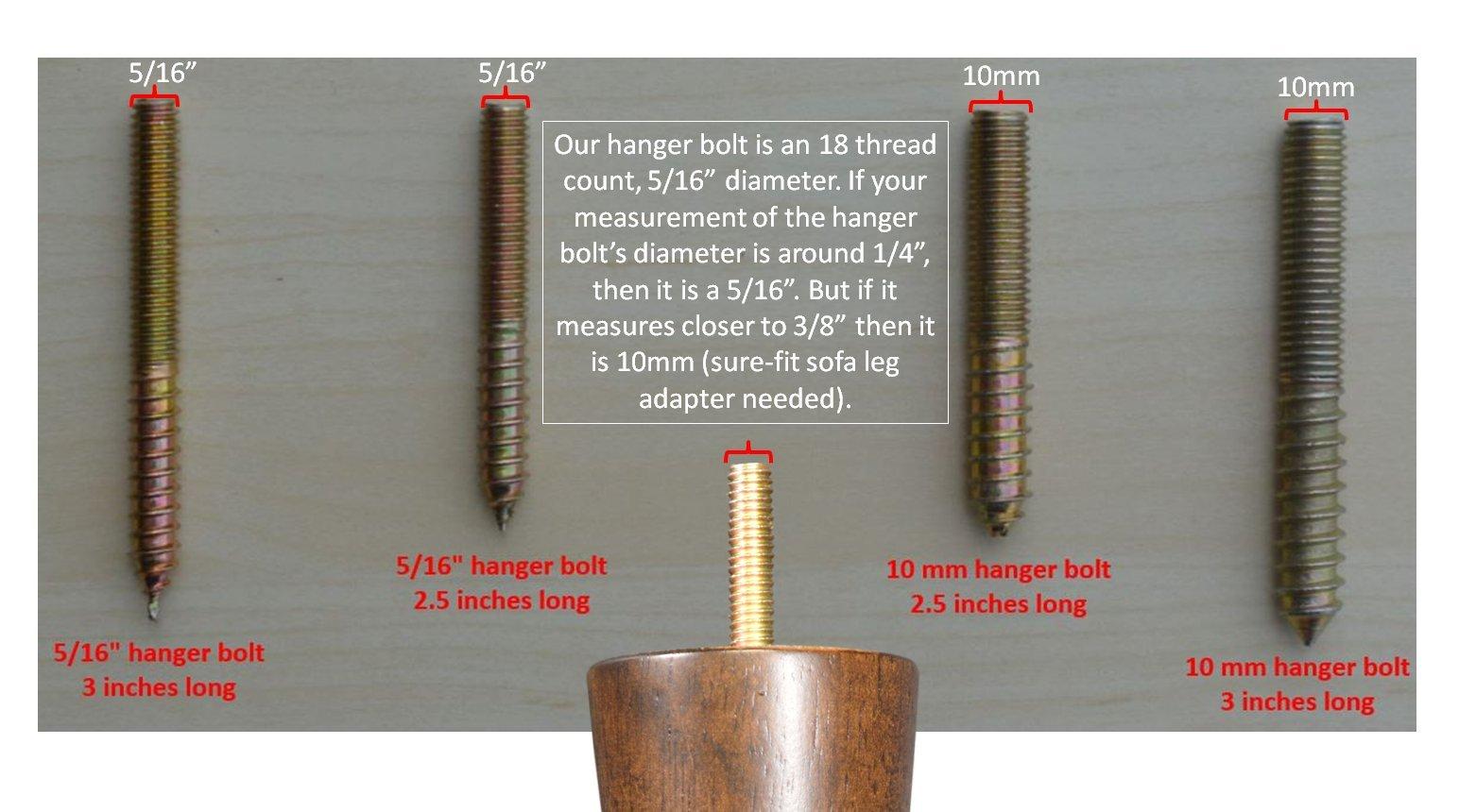 BingLTD - 7'' Unfinished Profile Hardwood Sofa Leg - Set of 4 (PAULINE-UNF-FBA) by BingLTD (Image #2)
