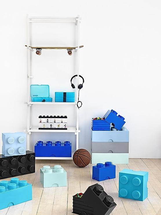 LEGO Brick 8 Knobs Stackable Storage Box, Blue, 12 Litre: Room ...