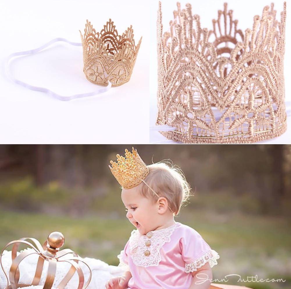 1pi/èce Haptian Nouveau-n/é B/éb/és Filles Infant Toddler Grosse Couronne Bandeau Bande De Cheveux Chapeaux Tiara