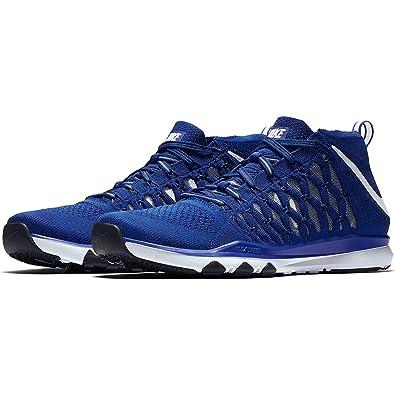 best service fa0b7 020e6 Nike Train Ultrafast Flyknit Size 9.5 Mens Cross Training Racer  Blue White-Deep Royal Blue Shoes  Amazon.co.uk  Clothing
