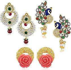 Sukkhi Drop Earrings for Women (Golden) (332CB1450)