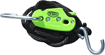 8 x 3//8 PROGRIP 404400 XRT Rope Lock Tie Down w//Push Button Release for Cargo Transport and Control Pack of 1