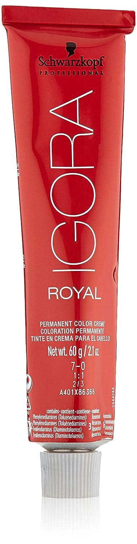 Schwarzkopf Igora Royal 7-0 Medium Blonde Permanent Hair Color 2.1 oz. (60 g) by Schwarzkopf Professional