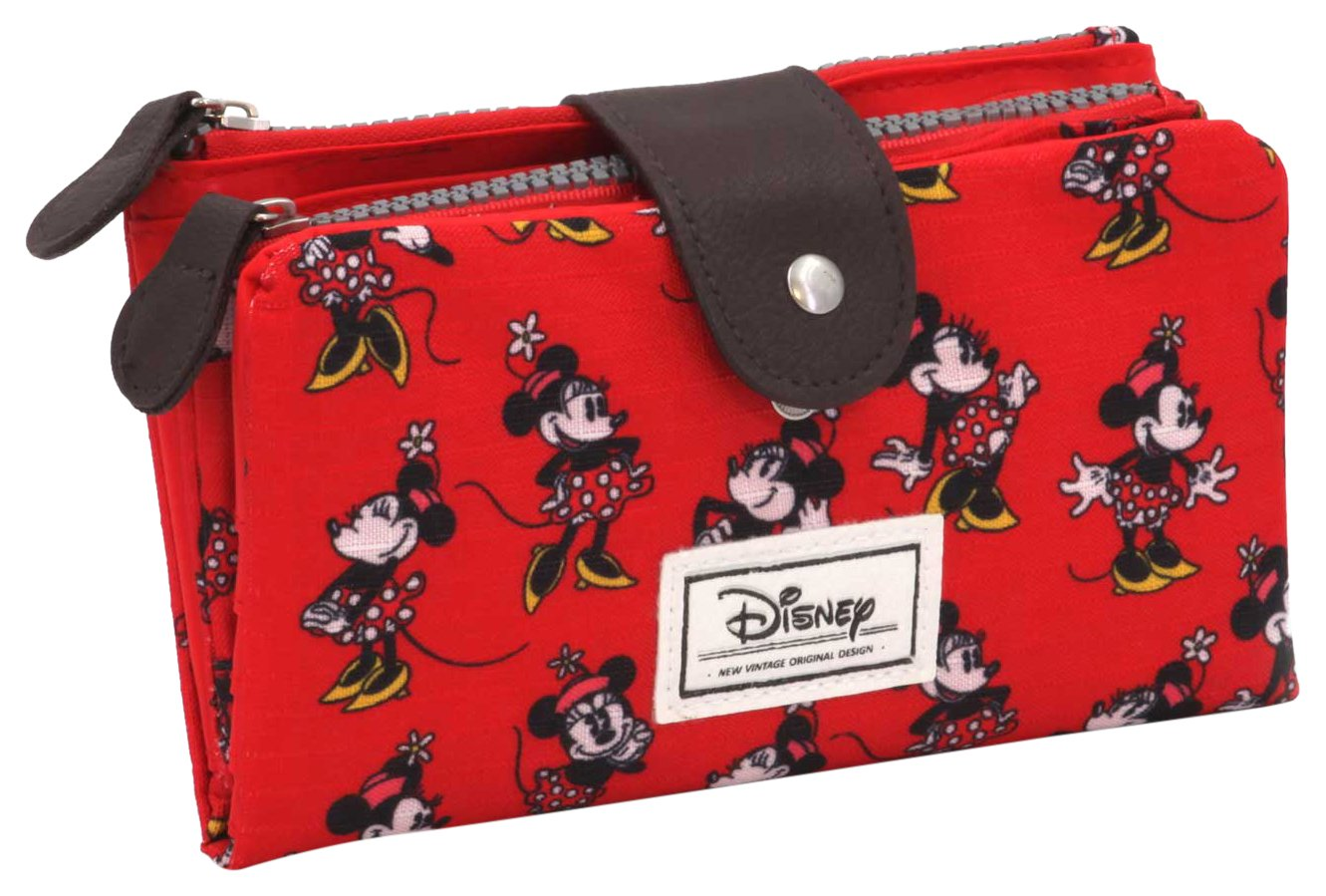 Disney Classic Minnie Cheerful Porte-Monnaie, 18 cm, Rouge (Rojo) Karactermania 36478