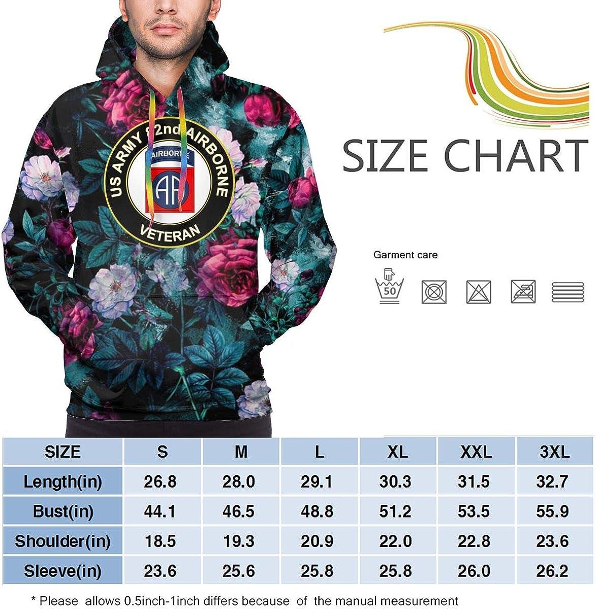 MUSICOT Mens Athletic Pullover Cozy Sport Outwear US Army Veteran 82nd Airborne Sweatshirt Hoodies