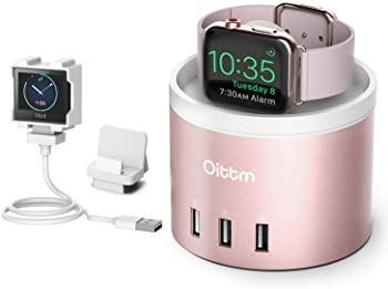 Oittm 4-Port USB Rechargeable Stand for Apple Watch Series 3