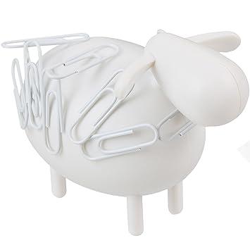 Portetrombones Aimanté Mouton Blanc Avec Trombones Blancs La - Porte trombone