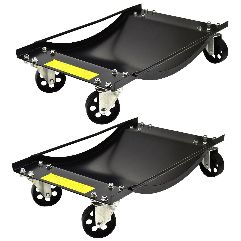 Par de plataformas rodantes de Ruedas 450kg Carrito de posicionamiento: Amazon.es: Coche y moto