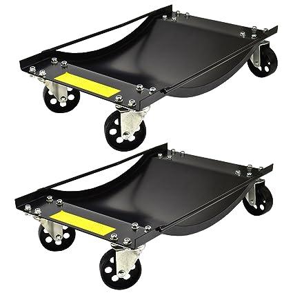 Par de plataformas rodantes de Ruedas 450kg Carrito de ...