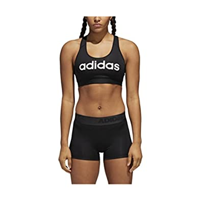 adidas Womens Logo Climacool Workout Sports Bra at Women's Clothing store