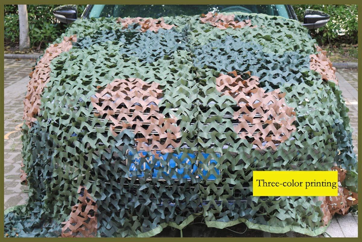 迷彩ネット迷彩ネット野外活動釣り映画ツリーハウス、すべての色 特別な日焼け止めネット森林狩猟撮影キャンプ日焼け止めネット隠し (色 : Three-color printing, サイズ さいず : 10m×10m) 10m×10m Three-color printing B07P4MGS4Y