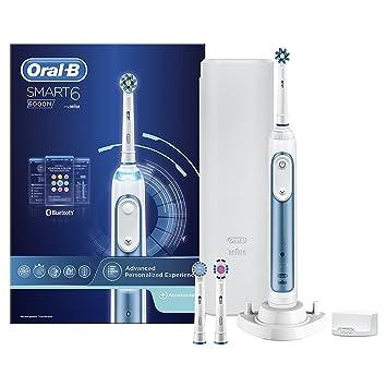 Oral-B Smart 6 6000N - Cepillo de Dientes Eléctrico con Tecnología de Braun, 1 Mango, 5 Modos, 3 Cabezales y 1 Estuche de Viaje: Amazon.es: Electrónica