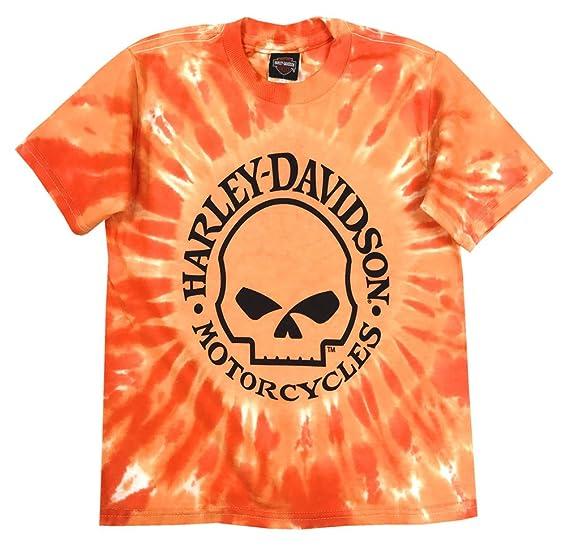 236aa96b Amazon.com: Harley-Davidson Big Boys' Skull Logo Swirl Tie-Die T ...