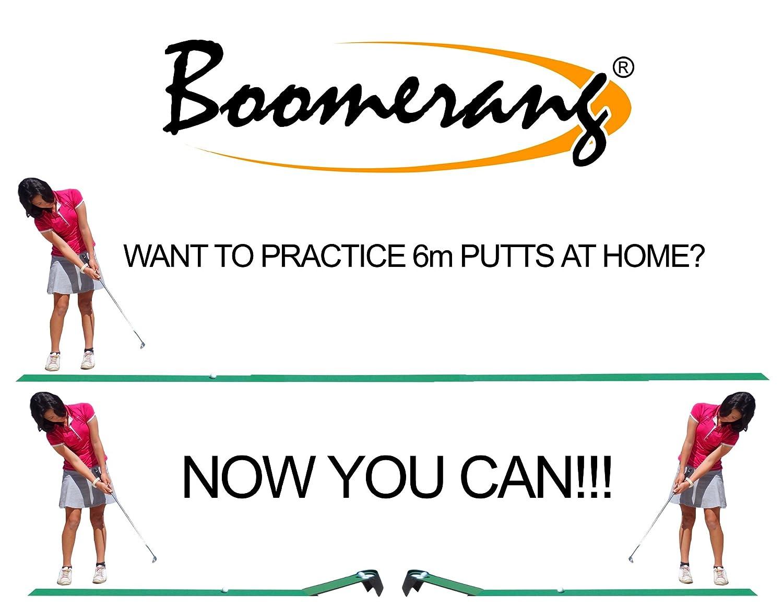 最高のゴルフパッティング援助  3-in-1 BOOMERANG GOLF PUTTING TRAINER Tour Putting Aid + Ball Returner + Skill Challenge + 3m Troon Dual Speed Mat & Tips  … B002ALOOAO