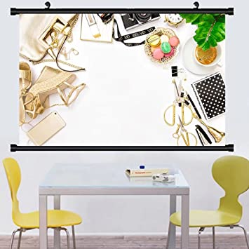 Amazon.com: Gzhihine Wall Scroll Posterfashion flat lay for bloggers ...