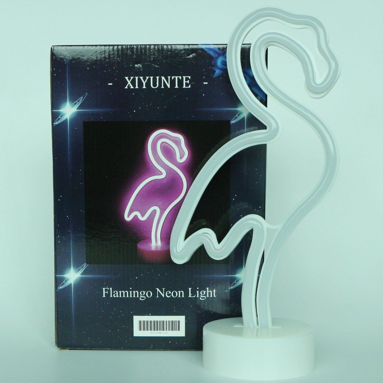 Flamingo Pink Neon Light Signs - XIYUNTE LED Room Decor Night Lights ...