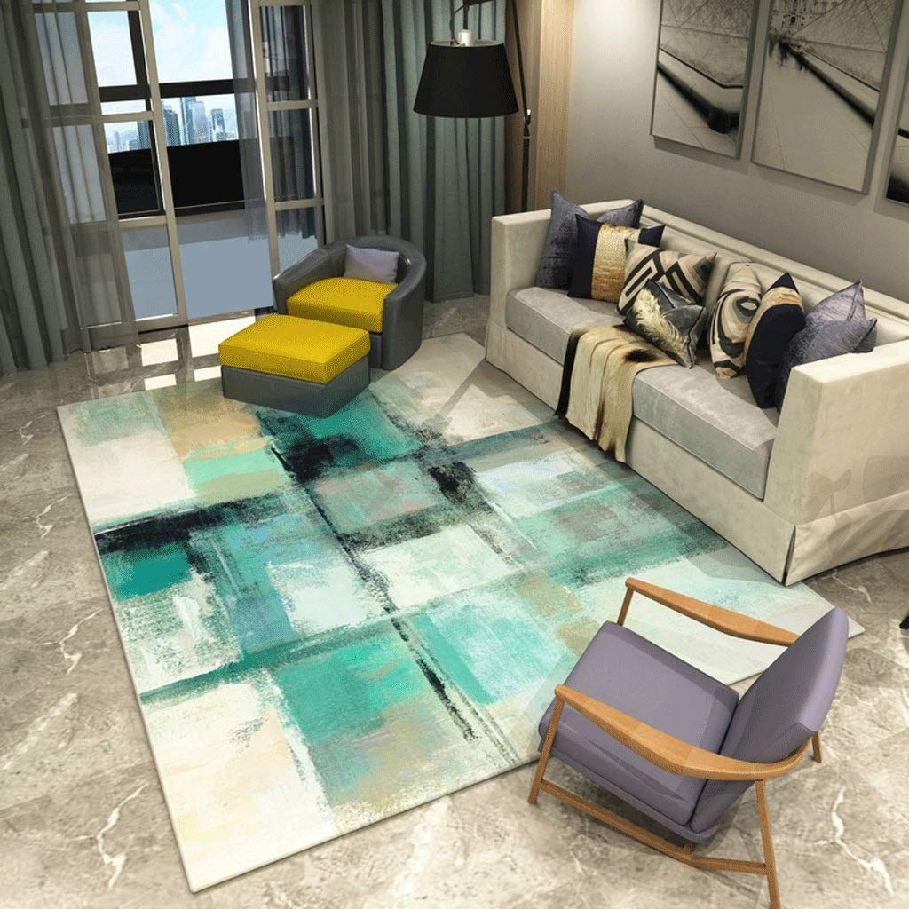 DYY Alfombra de Arte Abstracto Sofá Simple de la Sala de Estar/mesita de té Dormitorio del hogar Alfombra Engrosamiento de la cabecera (Color : S, Tamaño : 1.2M×1.6M)