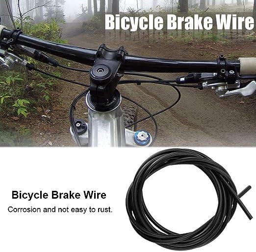 VGEBY1 Cable de Freno de Bicicleta, 3m Cable de Cambio de Bicicleta Cable Bowden Cable de Freno para Bicicleta de Carretera MTB Bicicletas Kit de Piezas de Repuesto(Negro): Amazon.es: Deportes y aire