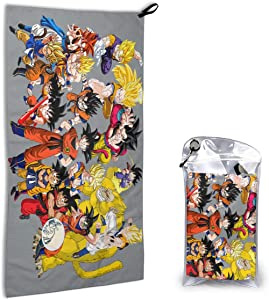 N/C Dragon Ball 15.7'' X 31.5'' Super Absorbent Quick Dry Towels Microfiber Lightweight Portable Pool Bath Towel for Camping/Sports/Travel/Fitness