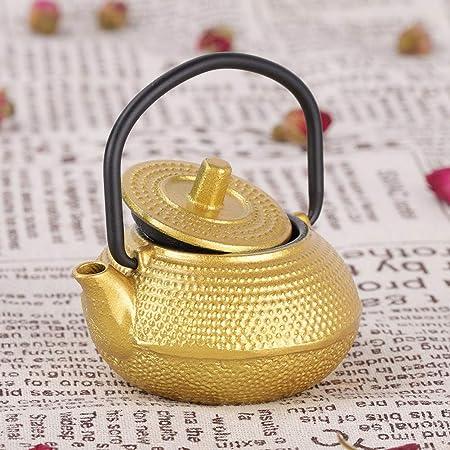 color dorado para caf/é casero Tetera de metal tetera de hierro 0.3L