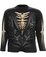 Spiral - Men - UNZIPPED - Longsleeve T-Shirt Black