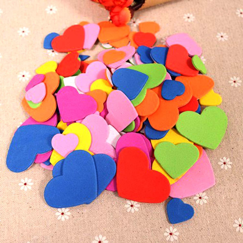 Bunt f/ür Karten zum Valentinstag und Kinder DIY Fertigkeit-Verzierung 540-600 St/ück Selbstklebendes Herzen Aufkleber Dream Loom Schaumstoff Aufkleber