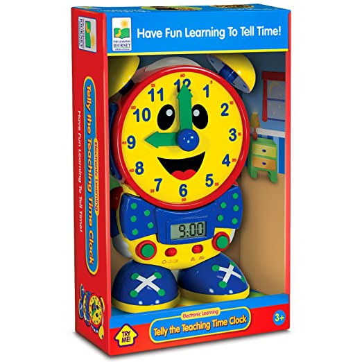Amazon.com: The Learning Journey Telly The Teaching Time Clock ...