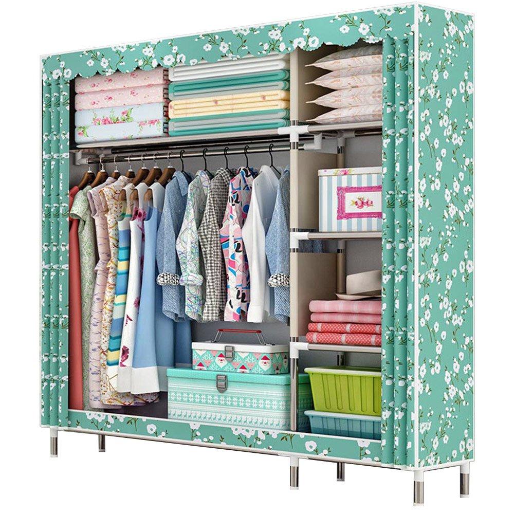 Amazon.com: HKKYT Beautiful high-capacity wardrobe oxford assembled ...