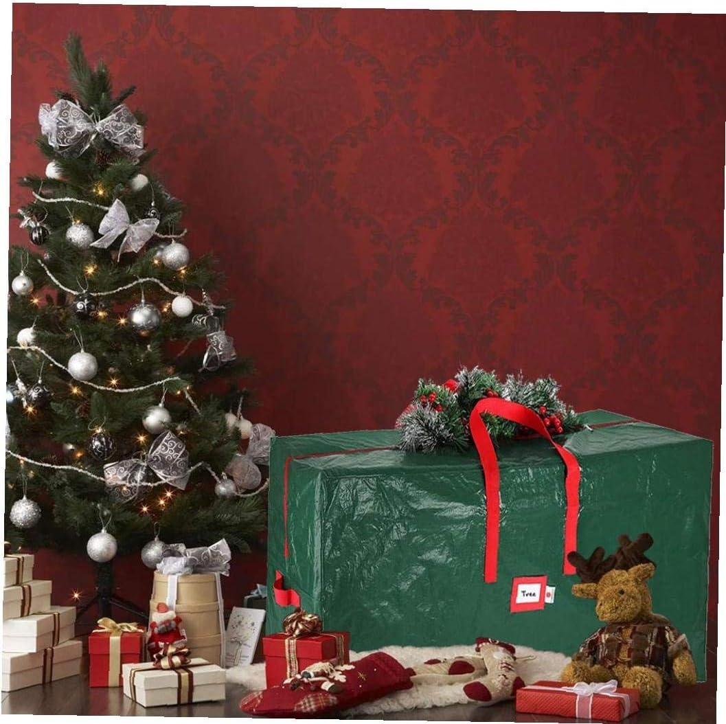 shentaotao Almacenamiento /árbol de Navidad Bolsa con Asas Cremallera Durable Fuerte F/ácil Tienda Verde Grande para Las Decoraciones de Navidad decoraci/ón de Vacaciones