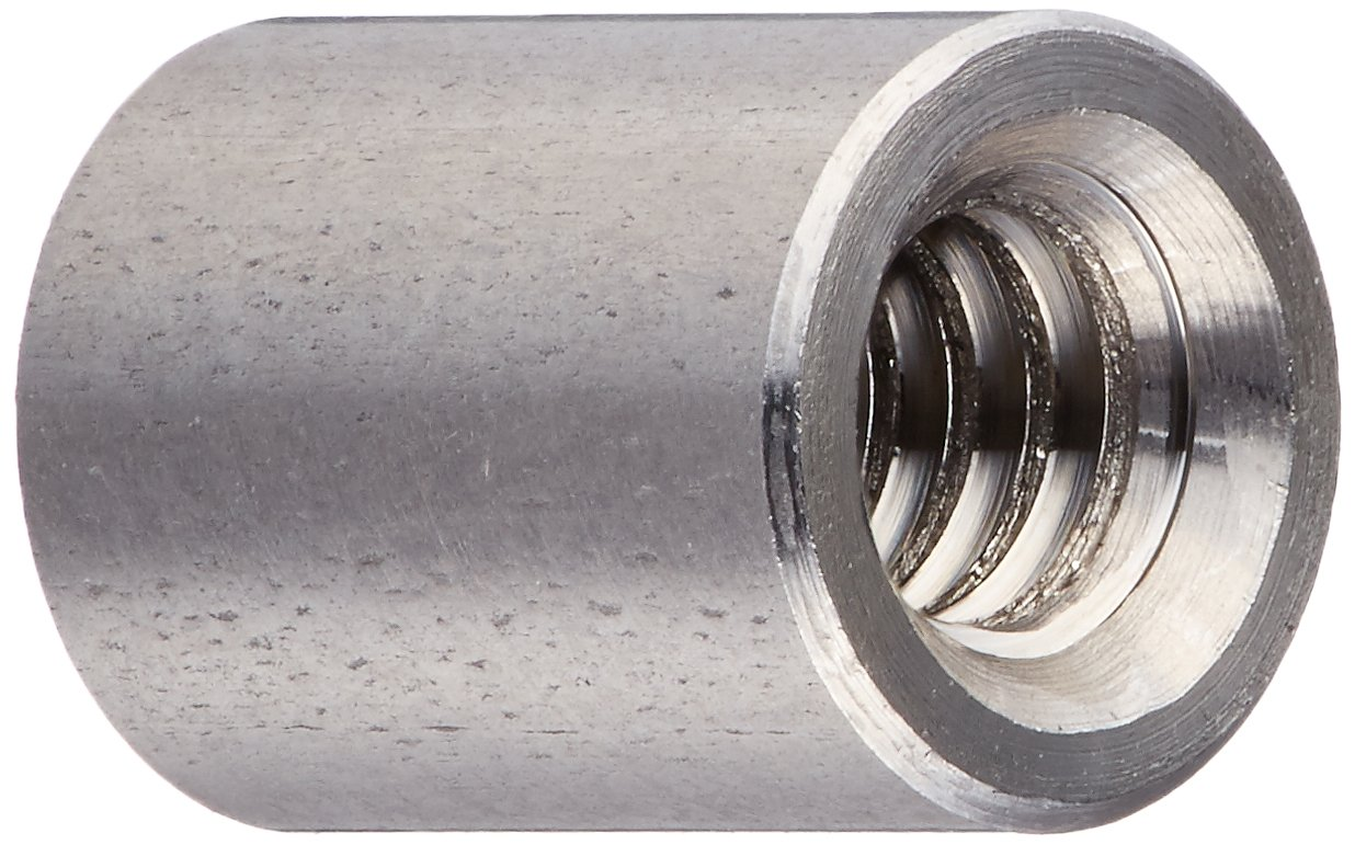 Round Standoff, Stainless Steel, Female, #4-40 Screw Size, 0.187'' OD, 0.25'' Length, (Pack of 10)