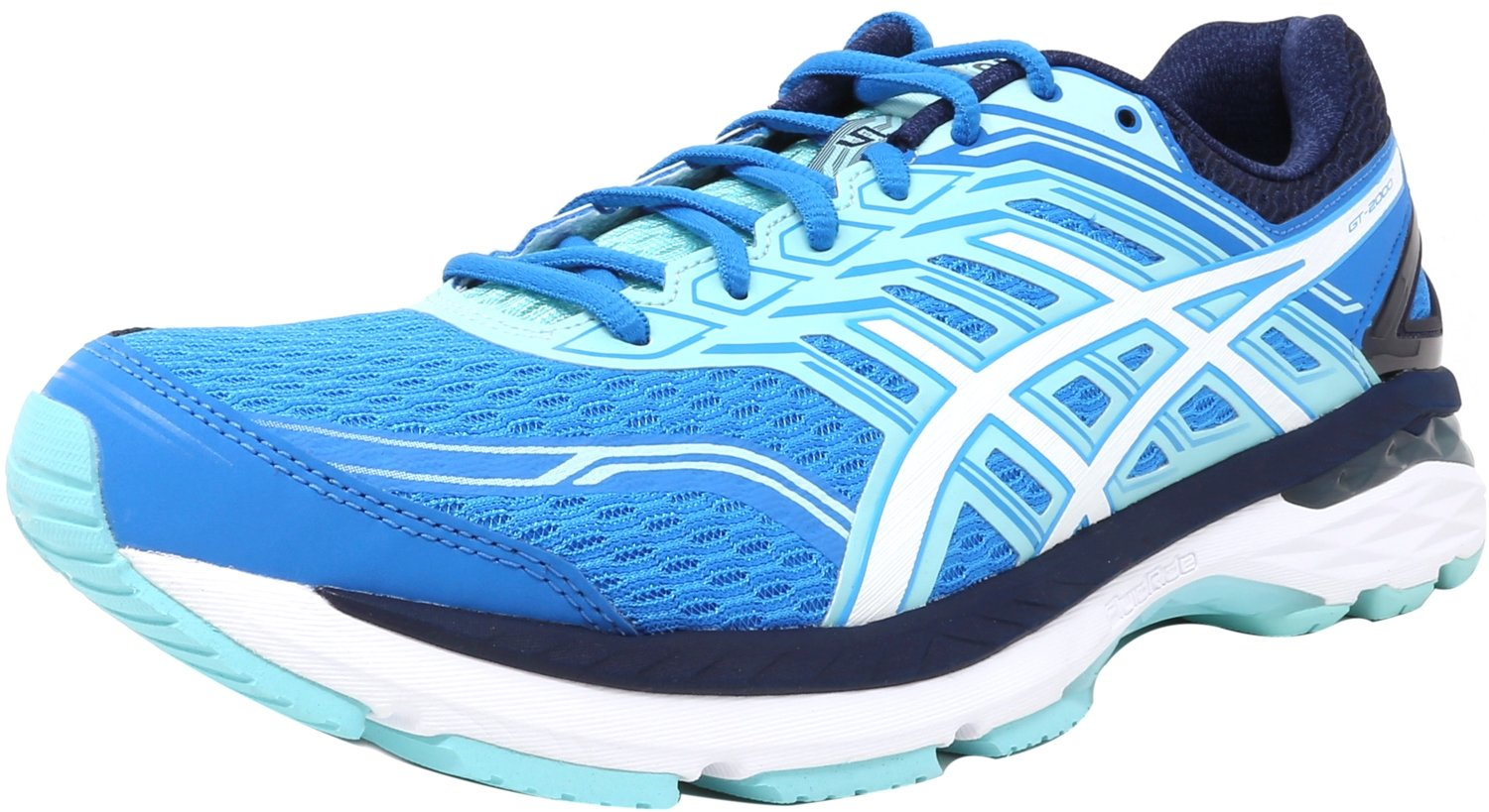 ASICS Women's GT-2000 5 Running Shoe, Diva Blue/White/Aqua Splash, 11.5 M US