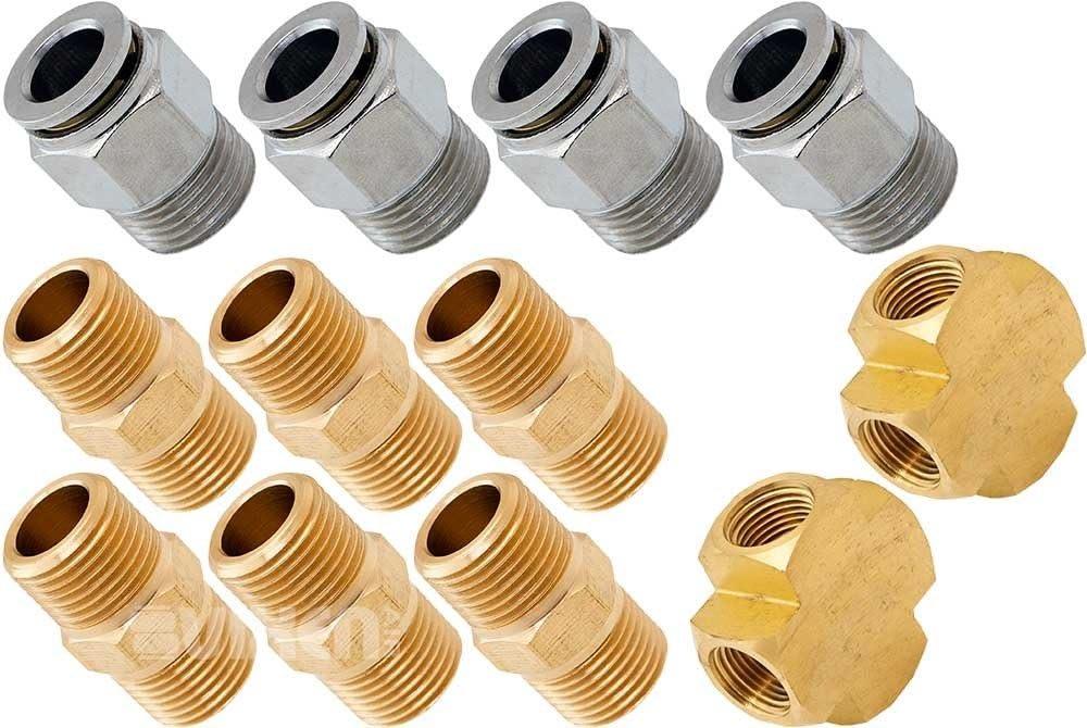 3 Pack VXA7538-3 Vixen Horns 3//8 NPT Brass Hex Head Male Plug for Train//Air Horn Tanks