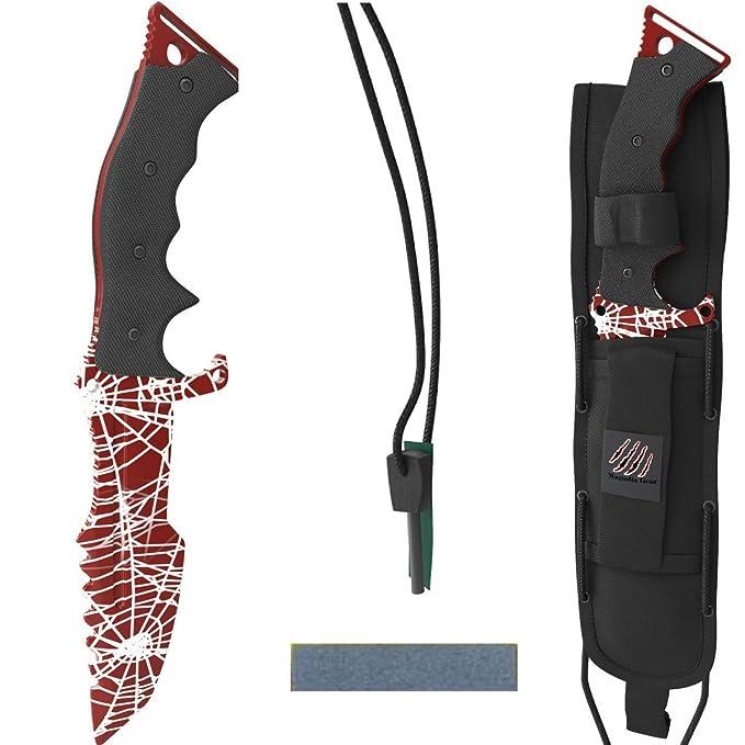 Amazon.com: Huntsman cuchillo por Magnolia Gear combatir ...