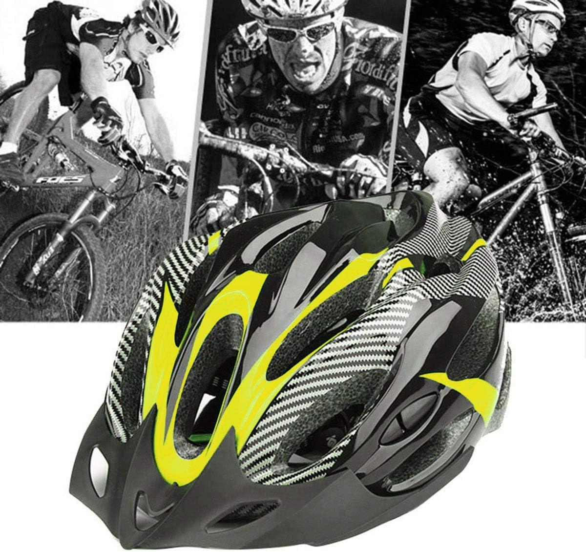 Casco da Ciclismo Casco da Mountain Bike Visiera Stabile Ultraleggera Sicurezza Eps Ciclismo Testa di Sicurezza per Adulti Proteggi Cappello da Bici