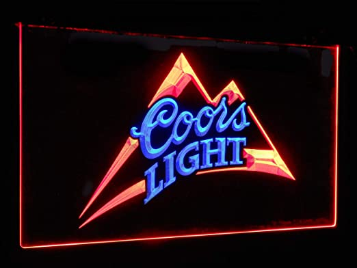 Amazon.com: Coors Light Beer Bar Decoration Gift Dual Color ...