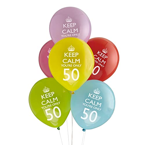 Neviti Keep Calm Youre Only 50 Balloons