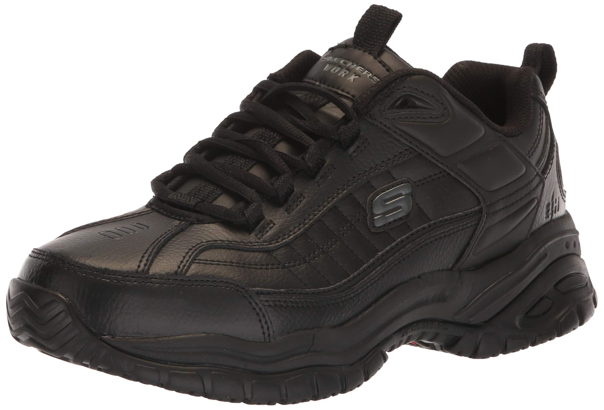 Skechers for Work Men's Soft Stride Galley Sneaker,Black,10.5 W US by Skechers