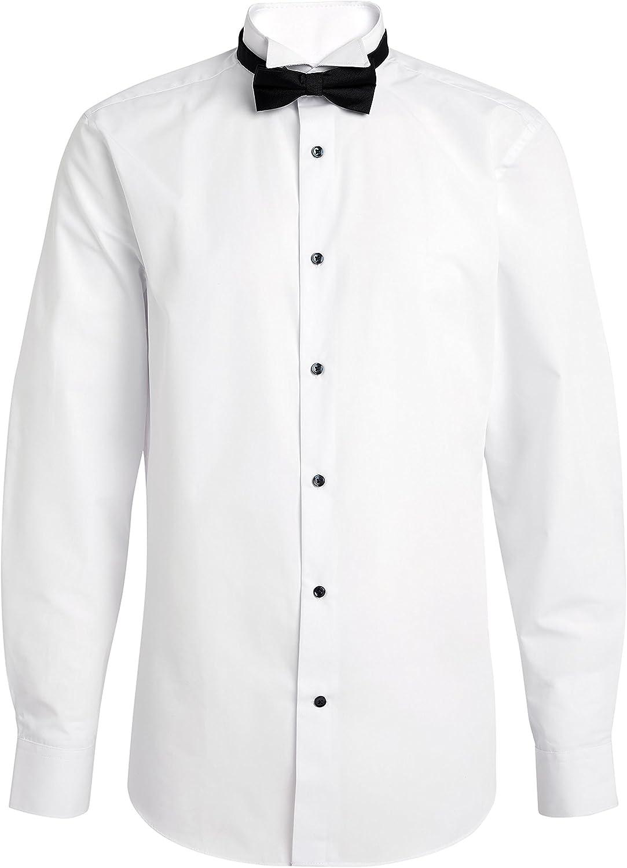 next - Camisa para Hombre con Ajuste Normal con Cuello y Pajarita ...
