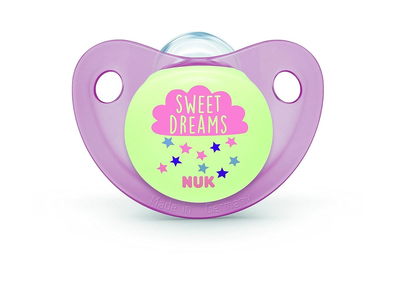NUK Trendline Day - Set de 2 chupetes para niña, talla 2 Talla:6-18 meses